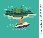 cool vector illustration on...   Shutterstock .eps vector #657161590