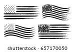 usa american grunge flag set ... | Shutterstock .eps vector #657170050