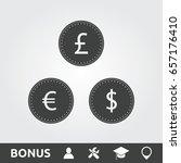 coins flat | Shutterstock .eps vector #657176410