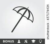 parasol flat icon | Shutterstock .eps vector #657176434