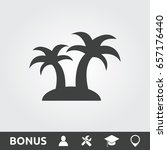 palm tree flat icon | Shutterstock .eps vector #657176440