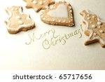 christmas cookies | Shutterstock . vector #65717656