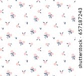 cute trendy seamless floral... | Shutterstock .eps vector #657187243