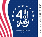 fourth of july retro poster...   Shutterstock .eps vector #657191758