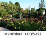 Stock photo princess grace rose garden monaco 657191938