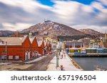 hakodate  japan cityscape at... | Shutterstock . vector #657196504