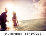young couple having fun in the... | Shutterstock . vector #657197218