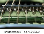 Macro Shot Of 6 String Electri...