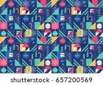 christmas and winter vector... | Shutterstock .eps vector #657200569