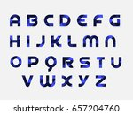 blue triangle alphabet | Shutterstock .eps vector #657204760