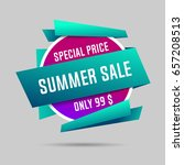 summer specials sale banner ... | Shutterstock .eps vector #657208513