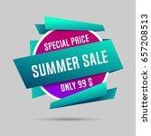 summer specials sale banner ... | Shutterstock .eps vector #657208513