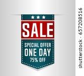sale banner  special offer.... | Shutterstock .eps vector #657208516