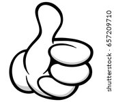 thumbs up cartoon hand | Shutterstock .eps vector #657209710