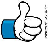 thumbs up cartoon social...   Shutterstock .eps vector #657209779