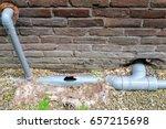 broken sewage pipe   plumbing   Shutterstock . vector #657215698