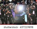 agnes jaoui attends 'amant... | Shutterstock . vector #657219898