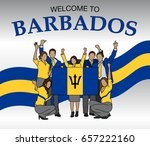 Welcome To Barbados. Group Of...