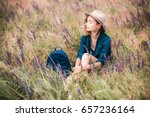 summer portrait of young... | Shutterstock . vector #657236164