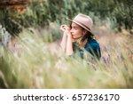summer portrait of young... | Shutterstock . vector #657236170