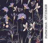 flower vector pattern with... | Shutterstock .eps vector #657236608