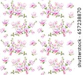 seamless pattern with flowers... | Shutterstock .eps vector #657238870
