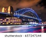 vivid sydney   harbour bridge | Shutterstock . vector #657247144