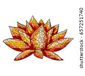 colorful lotus  vector... | Shutterstock .eps vector #657251740