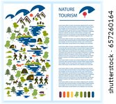 layout of tourist booklet or... | Shutterstock .eps vector #657260164