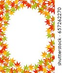 maple leaves background | Shutterstock . vector #657262270