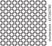 seamless interlocking geometric ... | Shutterstock .eps vector #657262780