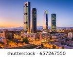 madrid  spain financial... | Shutterstock . vector #657267550