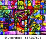 stained glass series. artistic... | Shutterstock . vector #657267676