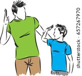 father and son vector... | Shutterstock .eps vector #657267970