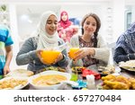 family and friends gathering... | Shutterstock . vector #657270484