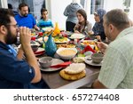 family and friends gathering... | Shutterstock . vector #657274408