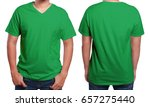 Green T Shirt Mock Up  Front...