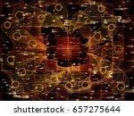 digital domain series. creative ... | Shutterstock . vector #657275644