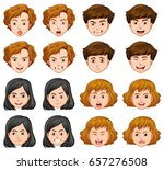 people with different facial... | Shutterstock .eps vector #657276508