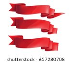 red ribbons horizontal banners... | Shutterstock .eps vector #657280708