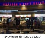 blurred counter bar cinema...   Shutterstock . vector #657281230