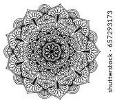 mandalas for coloring book.... | Shutterstock .eps vector #657293173