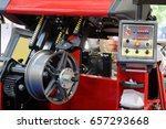 the image of lathe for car disk ...   Shutterstock . vector #657293668