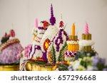 thai handmade flower tray for... | Shutterstock . vector #657296668