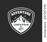adventure badge graphic design... | Shutterstock .eps vector #657297190