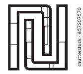 symbol new israeli shekel... | Shutterstock .eps vector #657307570