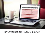 claims health insurance form  ... | Shutterstock . vector #657311734