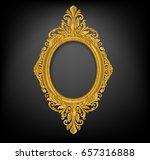 oval vintage gold picture frame ... | Shutterstock .eps vector #657316888