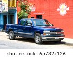Small photo of OAXACA, MEXICO - MAY 25, 2017: Pickup truck Chevrolet Cheyenne in the city street.