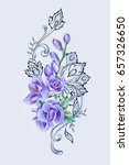 a sketch of a beautiful purple... | Shutterstock . vector #657326650